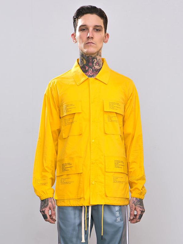 Letter Printed Windbreaker Jacket - This Is For Him