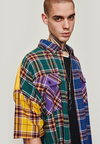 Multicolor Plaid Short Sleeve Shirt - This Is For Him