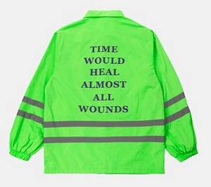 """Time Would Heal Almost All Wounds"" Reflective Striped Jacket"