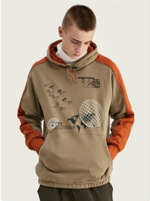 Productivity Graphic Print Brown Hoodie 2