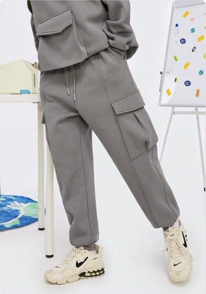 Fleece Sweatpants Mid Grey 3