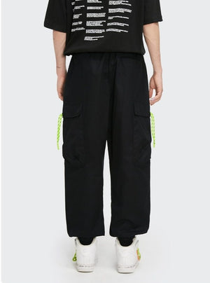 Black Jogger Pants with Elastic Belt 2