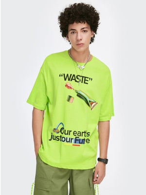 """Waste"" Flourescent Green T-Shirt"