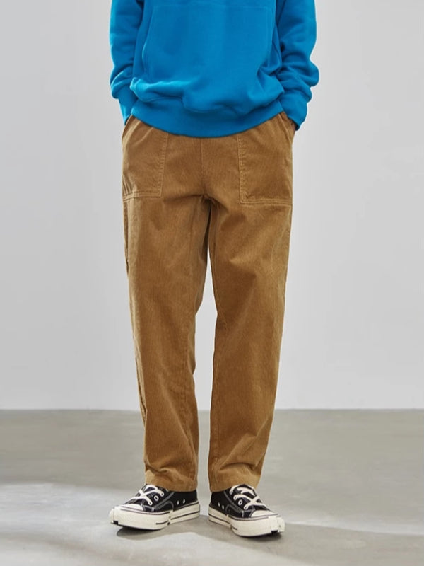Loose Fit Corduroy Pants in Khaki Color - This Is For Him