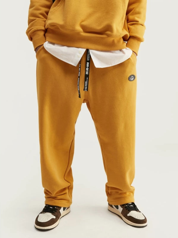 """Art"" Loose Fit Sweatpants in Yellow Color"