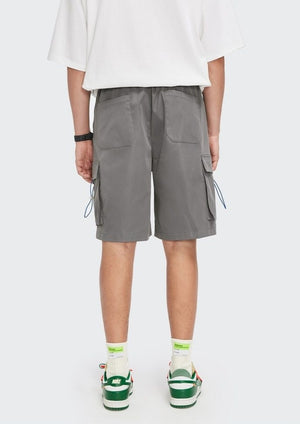 """A Sign Of Good Taste"" Gray Cargo Shorts 8"