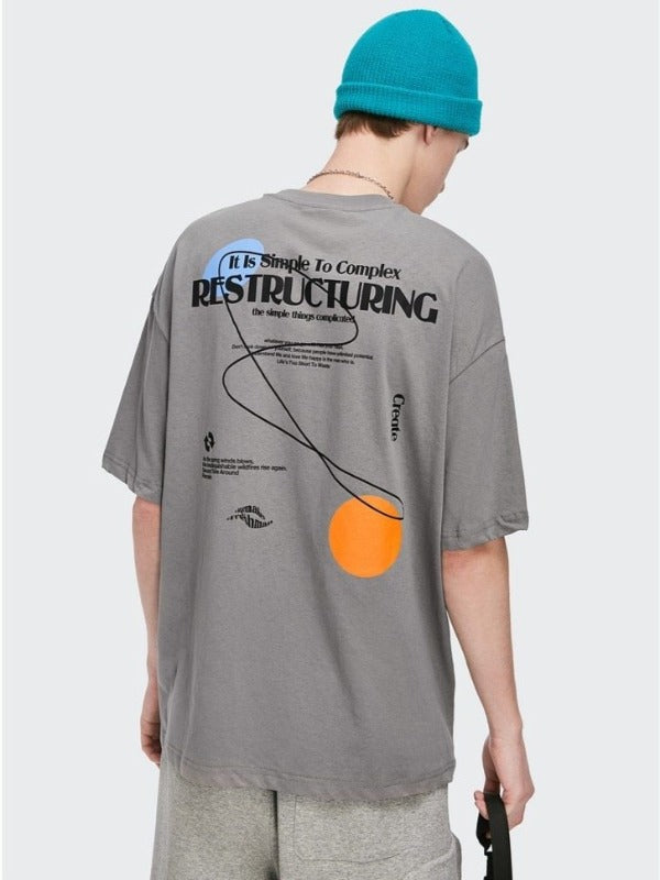 """Restructuring"" T-Shirt in Grey Color"