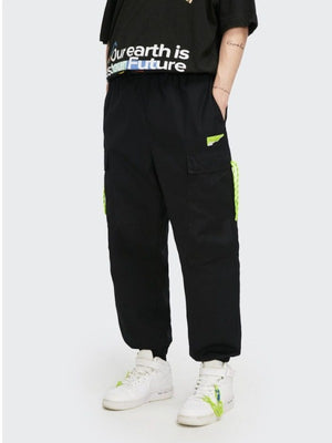 Black Jogger Pants with Elastic Belt