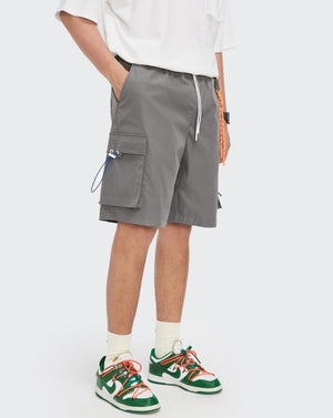 """A Sign Of Good Taste"" Gray Cargo Shorts 7"
