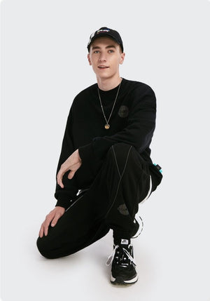 """Earth Song"" Sweatshirt and Sweatpants Black 3"