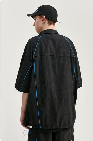 Black Shirt with Blue Line 2
