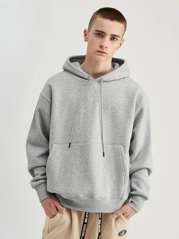 Pullover Hoodie in Grey Color
