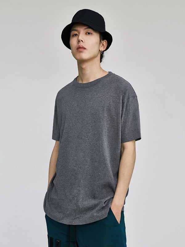 Dark Grey Basic T-Shirt