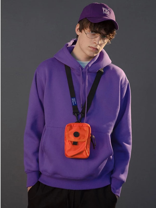 Pullover Hoodie in Purple Color