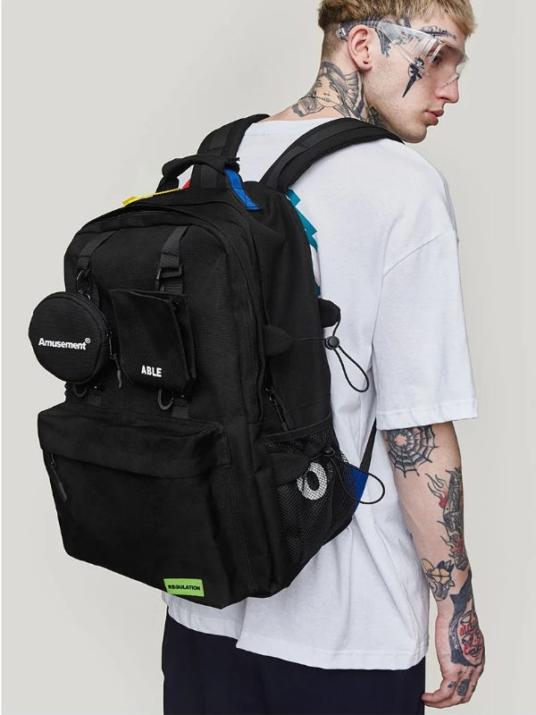 """Amusement"" Backpack in Black Color - This Is For Him"