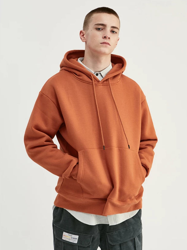 Pullover Hoodie in Brick Red Color