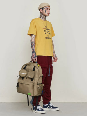 """Amusement"" Backpack in Khaki Color"