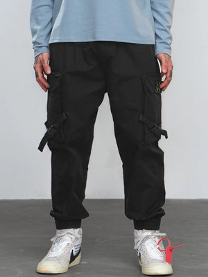 Cargo Pants With Side Pocket Tape