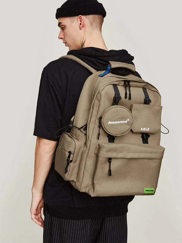 """Amusement"" Backpack in Khaki Color - This Is For Him"