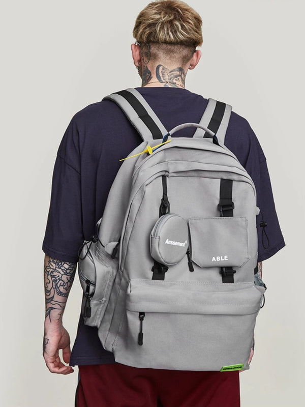 """Amusement"" Backpack in Grey Color - This Is For Him"