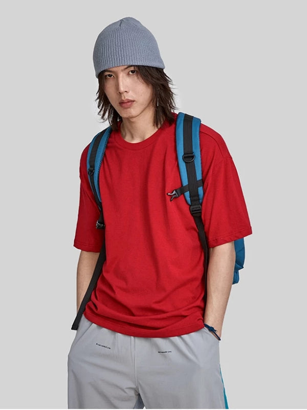 Red Loose Fit Basic T-Shirt
