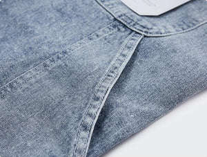Loose Straight Washed Jeans 11