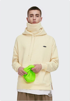 Thick Fleece Hoodie Apricot 2