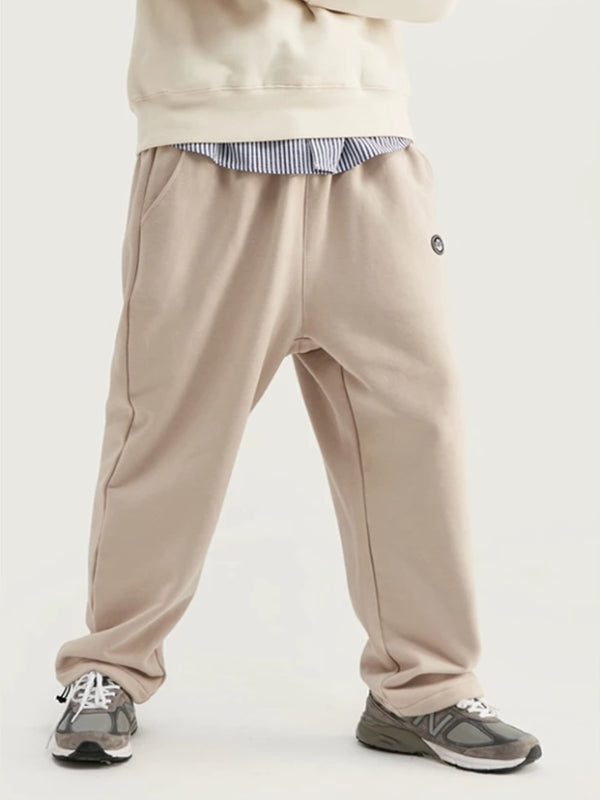 """Art"" Loose Fit Sweatpants in Apricot Color"