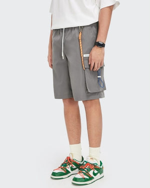 """A Sign Of Good Taste"" Gray Cargo Shorts 6"