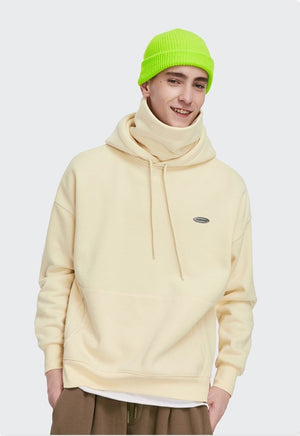Thick Fleece Hoodie Apricot 3