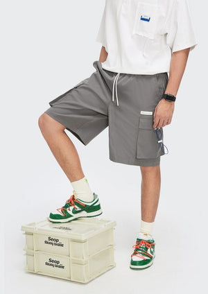 """A Sign Of Good Taste"" Gray Cargo Shorts 4"