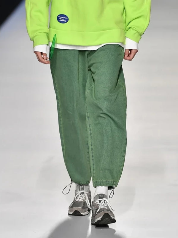 Loose Denim Jeans In Green Color - This Is For Him