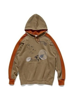 Productivity Graphic Print Brown Hoodie 6