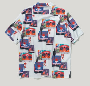 Fire Abstract Digital Print Shirt - This Is For Him