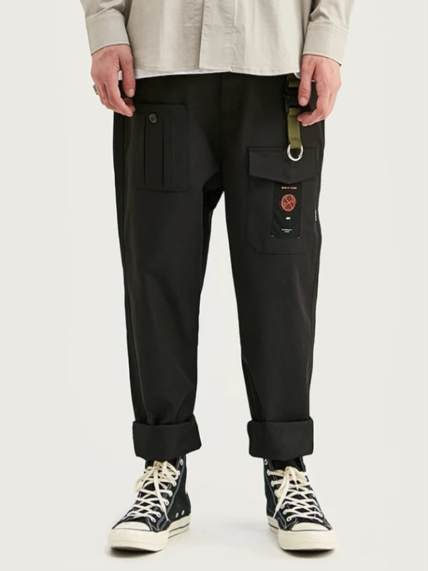 Loose Cargo Pants WIth Functional Pocket