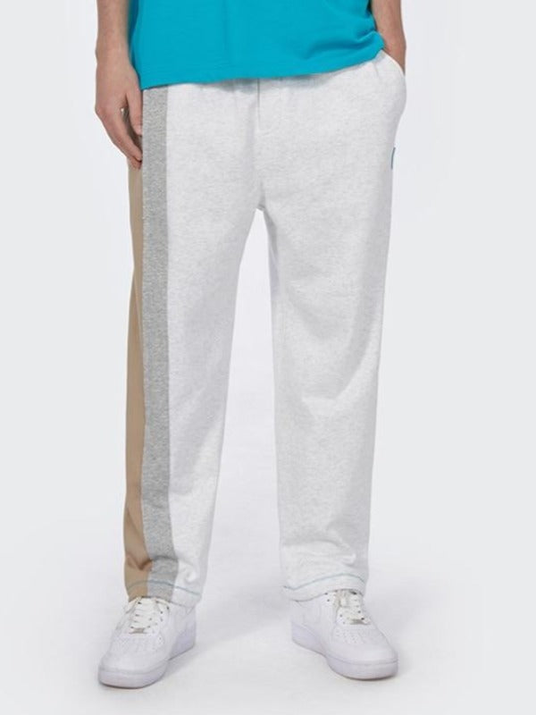 Light Grey with Brown Sweatpants