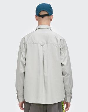 Multi-Pocket Oversize Shirt Grey 3