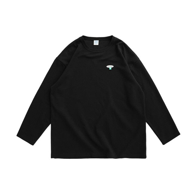 """Earth Song"" Long Sleeve Shirt Black"