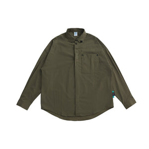 Oversized Shirt with Clip Pocket Green