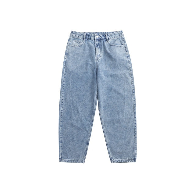 Loose Straight Washed Jeans