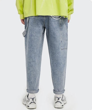 Loose Straight Washed Jeans 3