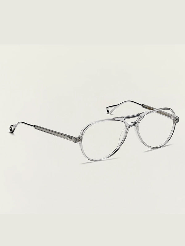 Moscot Korva-TT Optical Glasses in Light Grey/Silver Color