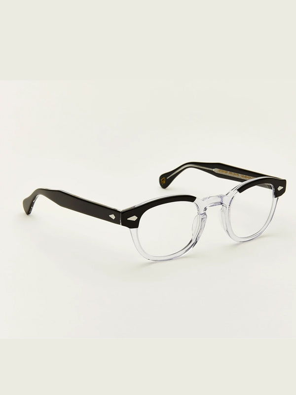 Moscot Lentosh Optical Glasses in Black Crystal Color