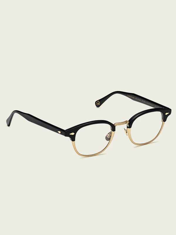 Moscot Lentosh-MAC Optical Glasses in Matte Black/Matte Gold Color