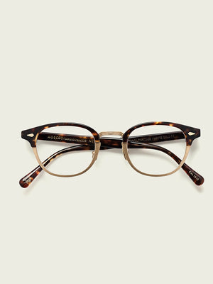 Moscot Lentosh-MAC Optical Glasses in Tortoise/Matte Gold Color