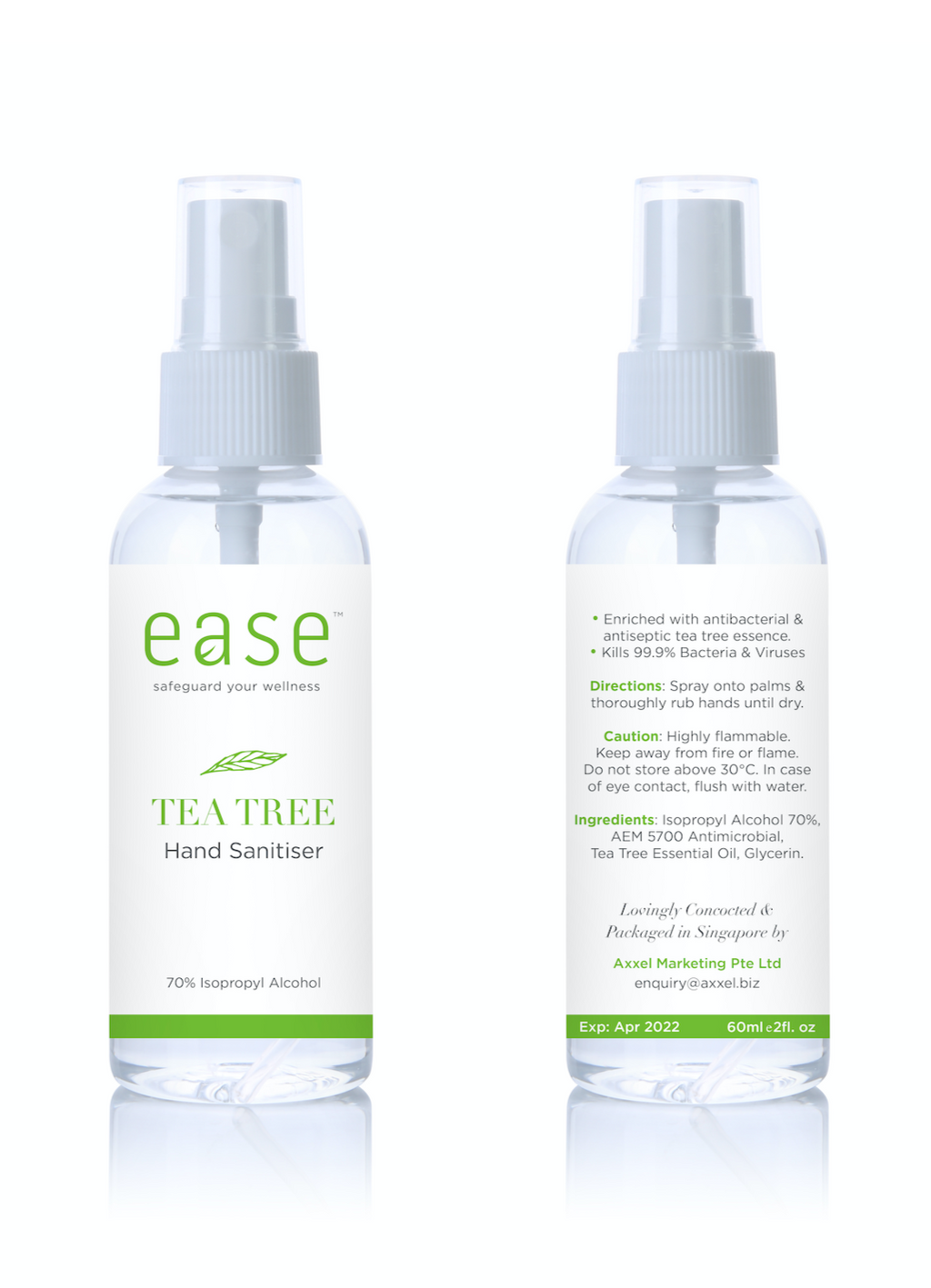 EASE Set of 3 Tea Tree Hand Sanitizers