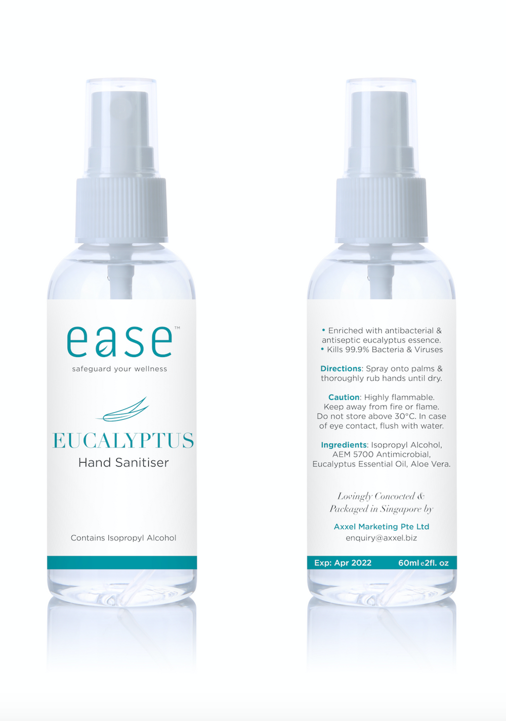 EASE Set of 3 Eucalyptus Hand Sanitizers - This Is For Him