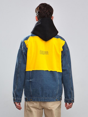 Yellow Patchwork Denim Jacket