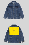 Yellow Patchwork Denim Jacket - This Is For Him