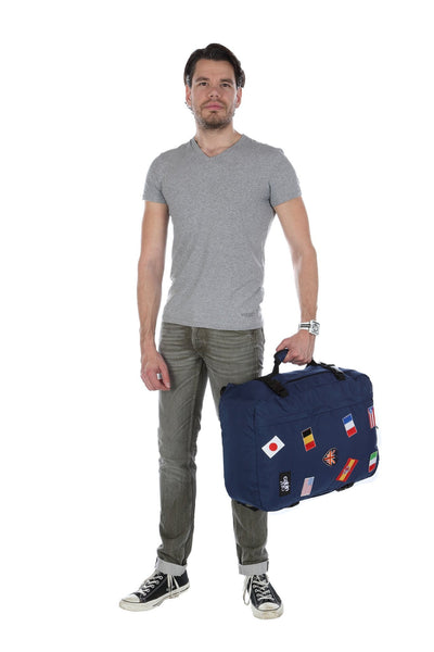 Classic Ultra-Light 44L Limited Edition Flags Cabin Bag in Navy Color - This Is For Him